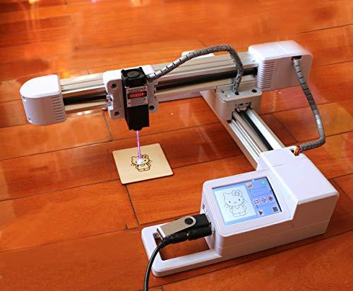 レーザー彫刻機 高精度 高安定性を備えたでDIY彫刻機 XY作業エリア175x155mm 高さ制限なし 小型 軽量 刻印 機械 彫刻工芸品 彫刻木材プラスチック紙竹 (3000mw)