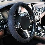 Automix Coprivolante per auto in pelle scamosciata , morbida, antiscivolo e inodore, misura universale 38-40 cm