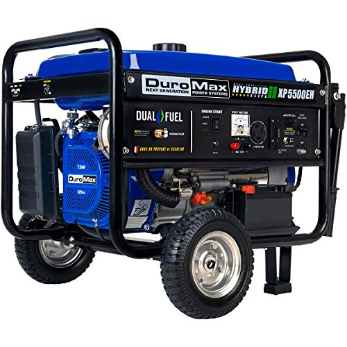 DuroMax XP8500E Gas Powered Portable Generator - 8500 Watt -Electric Start- Camping & RV Ready,...