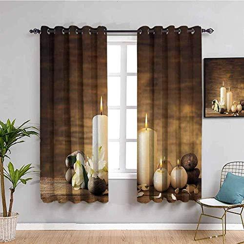 ILMF Cortinas para niños con diseño de vela marrón retro de 300 x 200 cm, impresión digital 3D, aislamiento térmico, cortinas opacas para tratamiento de ventanas con ojales, para niños, dos paneles