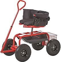 Kotulas Deluxe Rolling Garden Seat with Easy Change Turnbars — Red