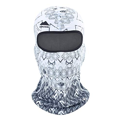 AEROSSI Balaclava Kids Ski Mask, Full Face Mask Winter Boys Girls Cold Weather (Black White)
