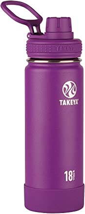 Takeya Actives Insulated Stainless Water Bottle with Insulated Spout Lid, 18oz, Violet
