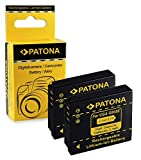 PATONA 2x Bateria compatible con Panasonic CGA-S005 / Fuji NP-70 / Leica BP-DC4 / Pentax D-Li106 / Ricoh DB-60 | DB-65