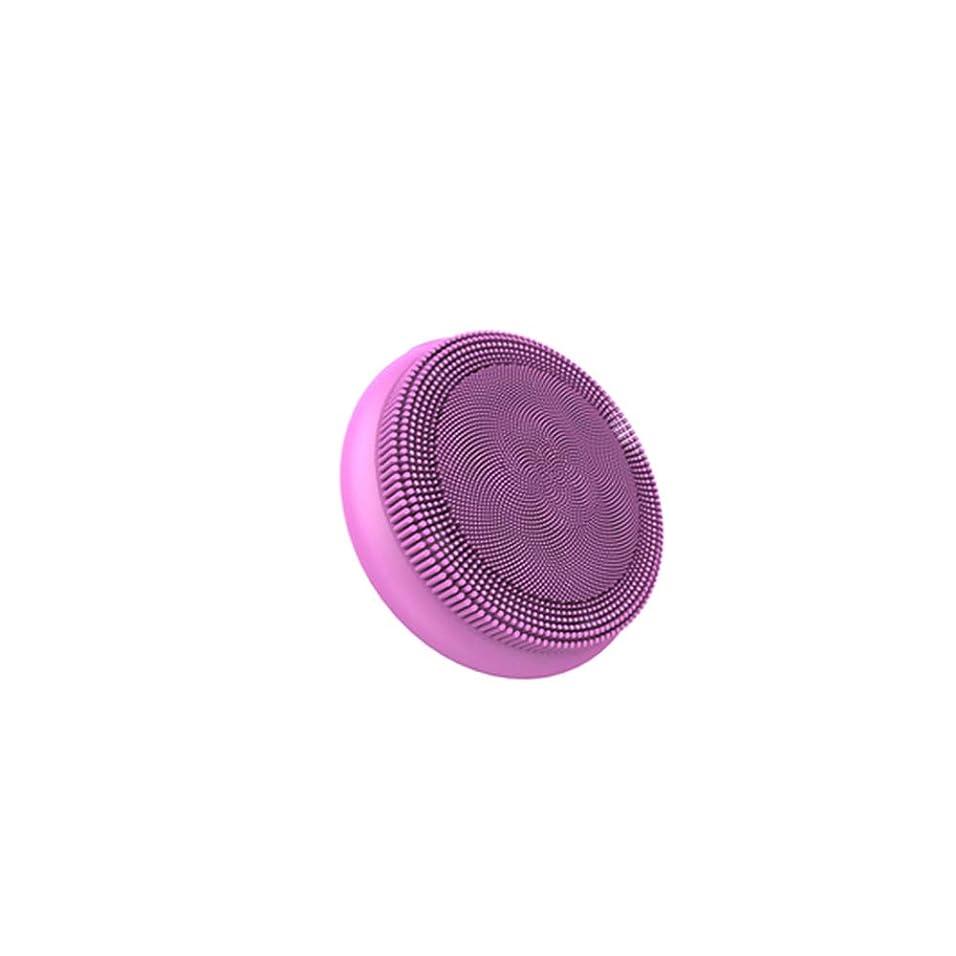 忠実な威信先見の明フェイシャルクレンジングブラシ、ディープクレンジング用防水シリコンフェイスマッサージャー、すべての肌タイプのアンチエイジングスキンケアデバイス,ピンク