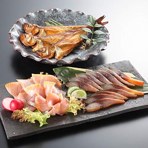 風味絶佳.山陰 魔法のスモーク 魚介の燻製詰合せ(サバ・ブリ・ハタハタ) 風呂敷包み