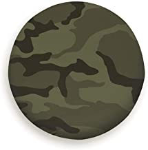 goodsaleA Army Green Camouflage Parks Outdoor Spare Wheel Tire Cover Waterproof Dust-Proof Universal for Jeep,Trailer, Rv, SUV and Many Vehicle 14