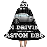 SEDSWQ May Look Like James Bonds Aston DB5 Unisex Kids Hooded Cloak Cape Halloween Xmas Party Decoration Role Cosplay Costumes Black