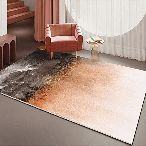 kinderteppiche Rosa brauner Teppich rechteckig Anti-Slip für Kinderzimmerschlafzimmer kinderteppiche kleine Couch jugendzimmer 200X300CM 6ft 6.7' X9ft 10.1'