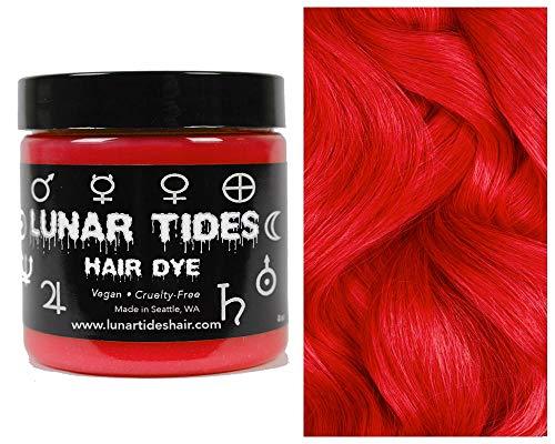 Lunar Tides Hair Dye - True Lust Bright Vivid Red Semi-Permanent Vegan Hair Color (4 fl oz / 118 ml)