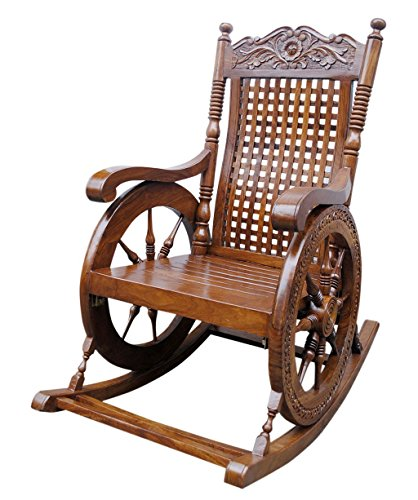 Craftatoz -Rocking Chair - Rocking Chair for Adults – Best Rocking Chair for Old Man - Wooden Rocking Chair for Living Room