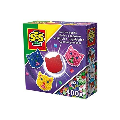 SES Creative SES06108 Bügelperlen Mini's 4x8 Sortiert Mosaik-Set, Mehrfarbig