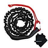 DoThisAllDay Bike Tow Rope for Kids Going Uphill,Compatible with Any Bicycle,118Inches After Stretching(Black)