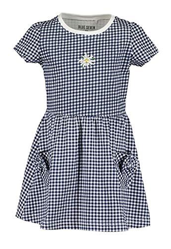 Blue Seven Mädchen Shirtkleid Kleid kleines Karo Country Look Marine (Numeric_128)