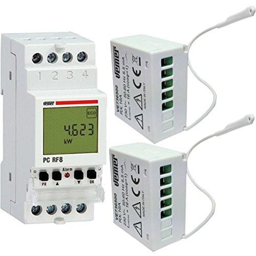 Vemer VE737300 Centralina Controllo Carichi PC Rf8 con 2 Attuatori RX.16A a Radiofrequenza, Bianco