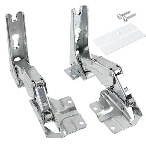 SPARES2GO Hettich Type Geïntegreerde deur scharnieren Koelkast Vriezer Set (Links & Rechts scharnieren met Codes: 3306 3702 3307 3703 5.0 41.5)