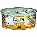 Gourmet Gold Tortini 85gr con Pollo e Carote Confezioni da 24 Pezzi