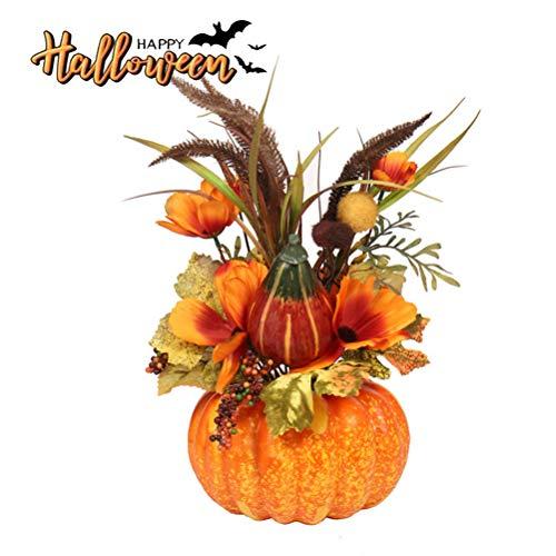 QoFina Halloween Künstliche Kürbis Dekorationen Tisch Ornamente Mini-Simulation Obst Ornament Für Halloween Thanksgiving Herbst Herbst Dekoration