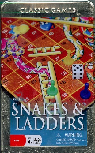 Classic Games Snakes and Ladders by Cardinal Industries Inc.