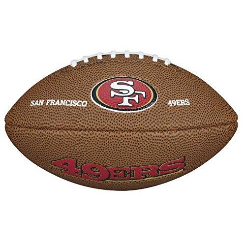 Wilson Ballon Football Américain, Homologué NFL, Utilisation récréative, Taille Mini, NFL TEAM LOGO SAN FRANCISCO 49ERS, Brun, WTF1533XBSF