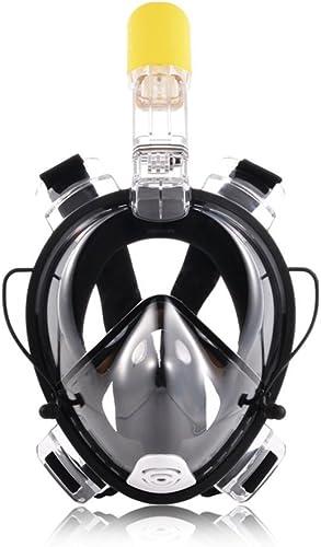Dishykooker Tuba Masque Scuba Full Face Ensemble de masque de plongée avec tuba pour sports aquatiques de natation plongée Mer Noir