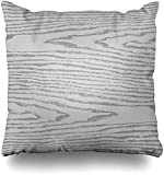 Throw Pillow Covers Floorboard Gray Grain Grayscale Wood Nature Veneer Pattern Wooden Dark Plywood Greyscale Home Decor Pillow Case Square 20 x 20 Inch Zippered Pillowcase