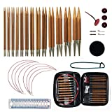 Best Knitting Needle Sets - Bamboo Circular Knitting Needles Set with 13 Sizes,Interchangeable Review