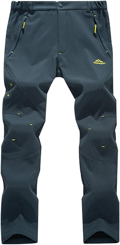 Real Spark Couple's Outdoor Windproof Waterproof Softshell Fleece Snow Hiking Pants