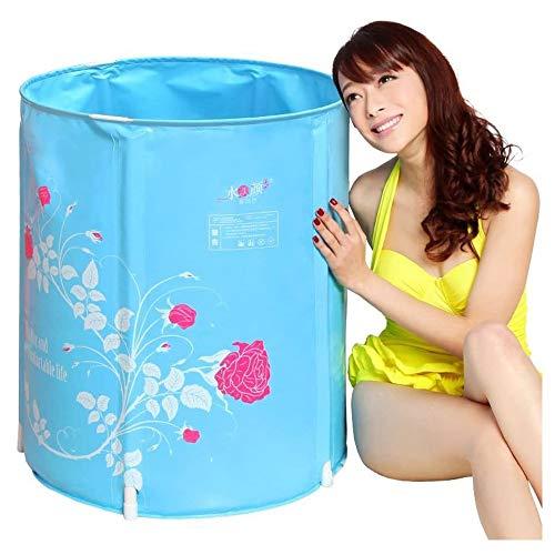 QIYUE Tragbare Badewanne, japanische Soaking Badewanne for Duschkabine, Inflatable Flexibles Plastik-Erwachsen-Größe Faltbare