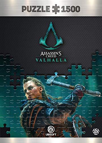 Good Loot Assassin's Creed Valhalla Eivor Female - Puzzlespiel mit 1.500 Teilen und den Maßen 85 cm x 58 cm   inklusive Poster und Tasche   Spiel-Artwork für Erwachsene und Teenager