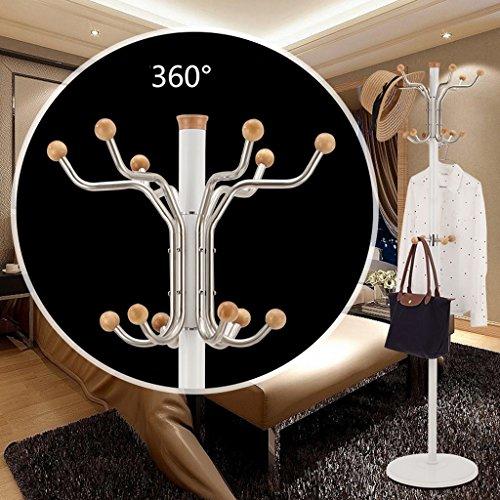SKC Lighting-Porte-manteau Crochet de plancher Crochet en acier inoxydable Crochet en argent Boule en cristal Alliage d'aluminium Colonne Crochet en caoutchouc (Couleur : Blanc)