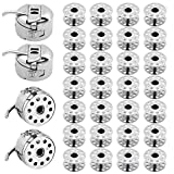 Homgaty - Caja de 4 piezas para máquina de coser con 30 bobinas de metal para máquinas Brother, Janome, Singer, Kenmore Ect de carga frontal Clase 15