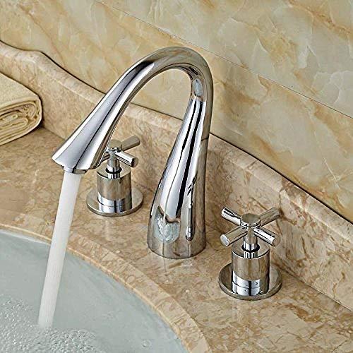 Tipo Cisne Baño en forma de lavabo Encimera Grifo Montaje en cubierta Cromo pulido