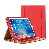iPad Air Hülle - iPad PU Leder Smart Schutzhülle Cover Hülle mit Ständer Funktion & Auto-Einschlaf/Aufwach für Apple iPad Air/Neu iPad 9.7 (5th Generation) 2017 (Rose)