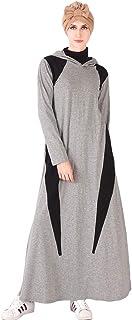 فستان سهرة طويل للنساء من جيه سونغ فساتين صلاة رمضان إسلامي للنساء في الشرق الأوسط ماكسي كاجوال فستان رياضي ترفيهي