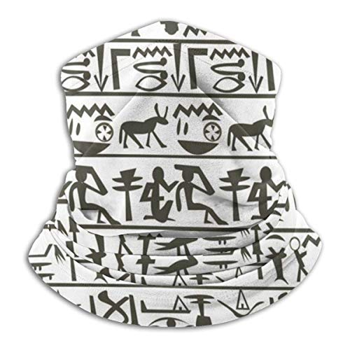 Pañuelo egipcio jeroglífico cuello polaina cara bufanda, protección solar fresco ligero ligero a prueba de viento, transpirable-BV-N67