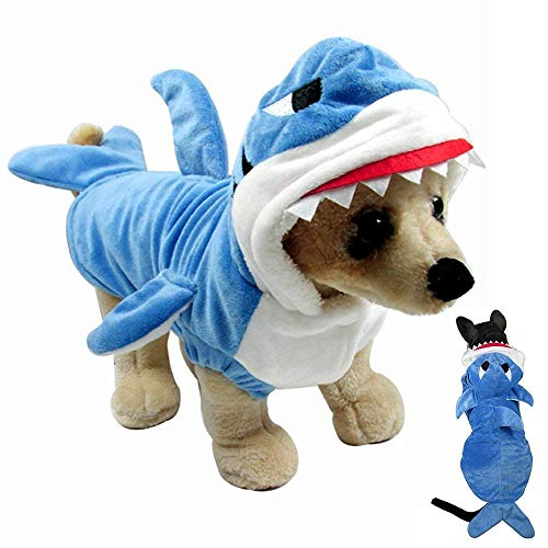 Gimilife Pet Costume, Pet Shark Costume Outfit, Halloween pet Costumes Pet Pajamas Clothes Hoodie Co - http://coolthings.us