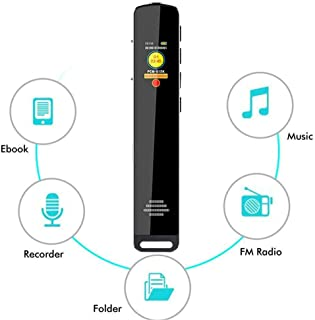 Digital Voice Recorder, 16GB, OLED Screen Voice Activation, Dual Microphone 1536Kbps Stereo HD High-Fidelity, Mini Voice Recorder, Long Standby Time, One-Click Recordinge