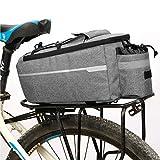 BWBIKE Maletero convertible para bicicleta, alforjas y maleteros reflectantes, bolsa para sillín de bicicleta, bolsillos con cremallera y funda para botella