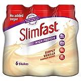 Batido sabor plátano para sustituir comidas de SlimFast, botella de 325 ml, pack de 6