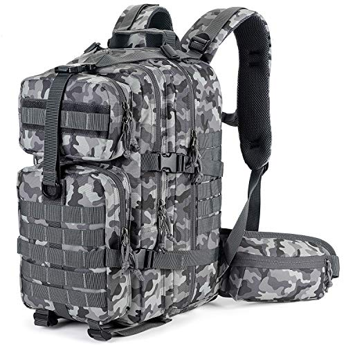 Gelindo Military Tactical Backpack, Army Molle Bag, Assault Backpacks, Small Rucksack for Hunting, Camping, Trekking, School, 35L