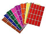Royal Green Adesivi Rettangolari Colorati Multiuso 40 mm x 19 mm - Etichette Adesive (4 cm x 1,9 cm) in 8 Colori Assortiti per Bambini, Scuola, Ufficio, Archivio e Documenti - Confezione da 640 Pezzi