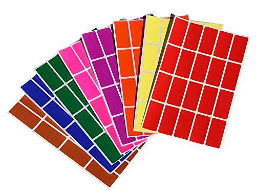 Etiketten Bunt 40 mm x 19 mm rechteckige Aufkleber - in verschiedenen Farben Größe 4 cm x 1,9 cm viereckige Sticker 640 Vorteilspack von Royal Green