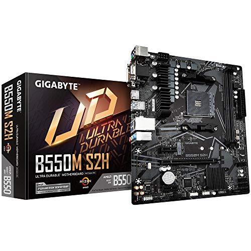 GIGABYTE B550M S2H mATX Mainboard Sockel AM4 M.2/HDMI/DVI/VGA/USB 3.2 (Gen1)