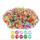620 perlas de cristal de 8 mm, perlas de cristal facetadas, perlas de cristal multicolor, redondas, perlas sintéticas, multicolores, perlas surtidas, para manualidades, pulseras y joyas