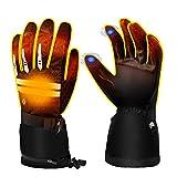 EEIEER Beheizte Handschuhe für Herren Damen, Beheizbare Handschuhe Elektrische Heizung Handschuhe, Wiederaufladbare, 5 Stufen Temperaturregelung&Touchscreen, Beheizte Handwärmer
