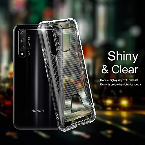 CRESEE für Huawei Nova 5T / Honor 20 Hülle Case, Schutzhülle Transparente Dünn Weich Silikon Cover Bumper Stoßfest Handyhülle Fall für Huawei Nova 5T/ Honor 20 (Transparent) - 3