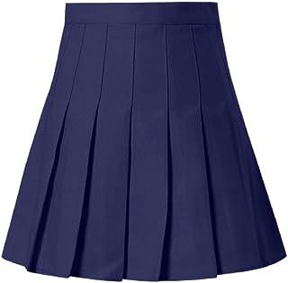 Faldas Plisadas Moda 2020 Falda Mini de Cintura Alta sólida para Mujer Falda Delgada de Tenis