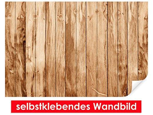 XXL behang zelfklevende muurschildering teak hout – gemakkelijk te plakken – muurprint, wallpaper, posters, vinylfolie met puntlijm voor muren, deuren, meubels en alle gladde oppervlakken van trendy muren 90x60cm