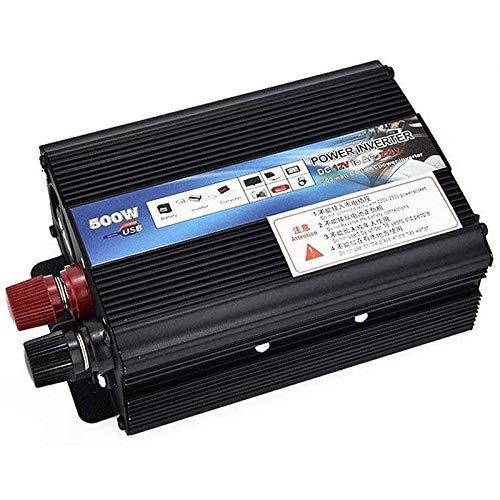 XDDXIAO Auto Reiner Sinus Wechselrichter 500W / 1000W / 2000W Spannungswandler DC 12V / 24V Auf AC 220V / 230V / 240V Inverter Konverter mit Steckdose und USB-Port,24v to 110v,500W